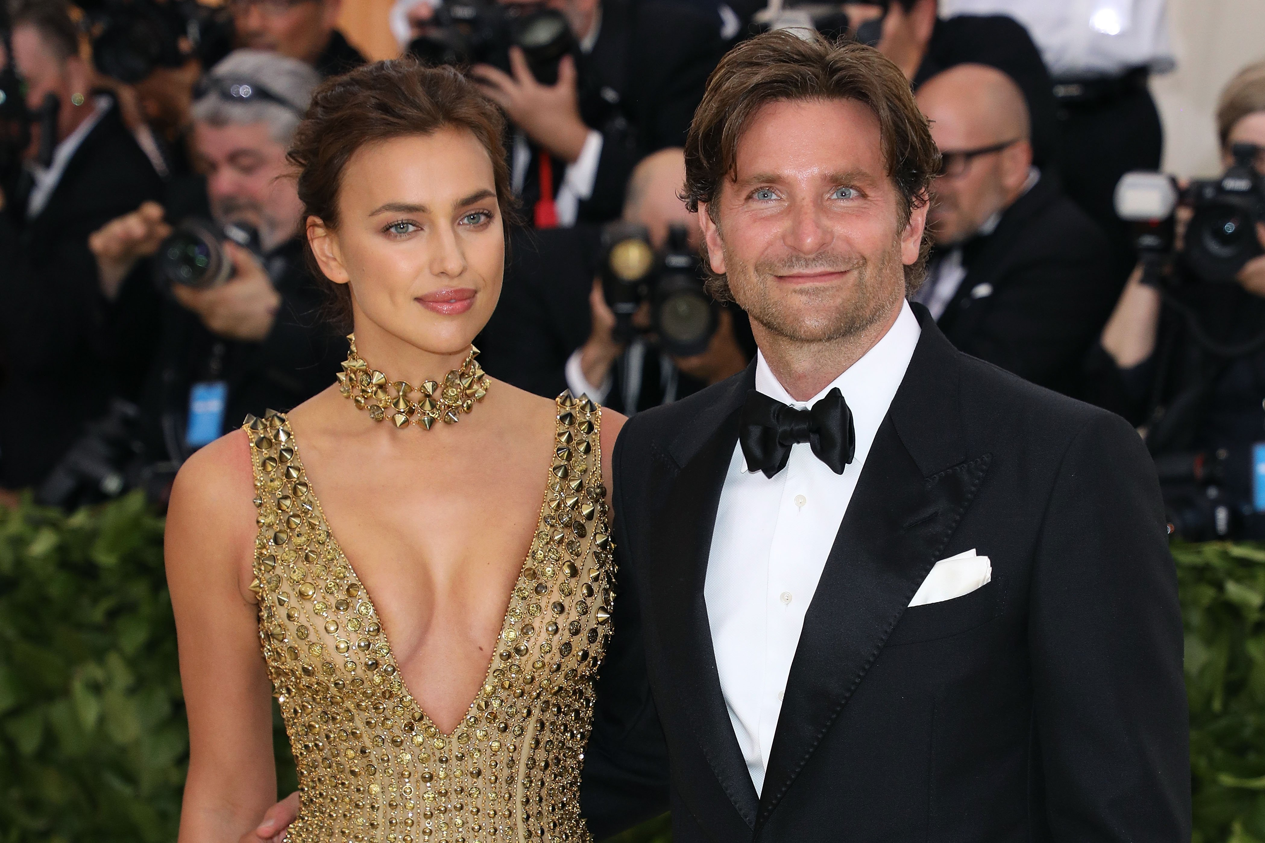 "Bradley Cooper and Irina Shayk attend the Heavenly Bodies: Fashion & The Catholic Imagination"" Benefit event in May 2018 