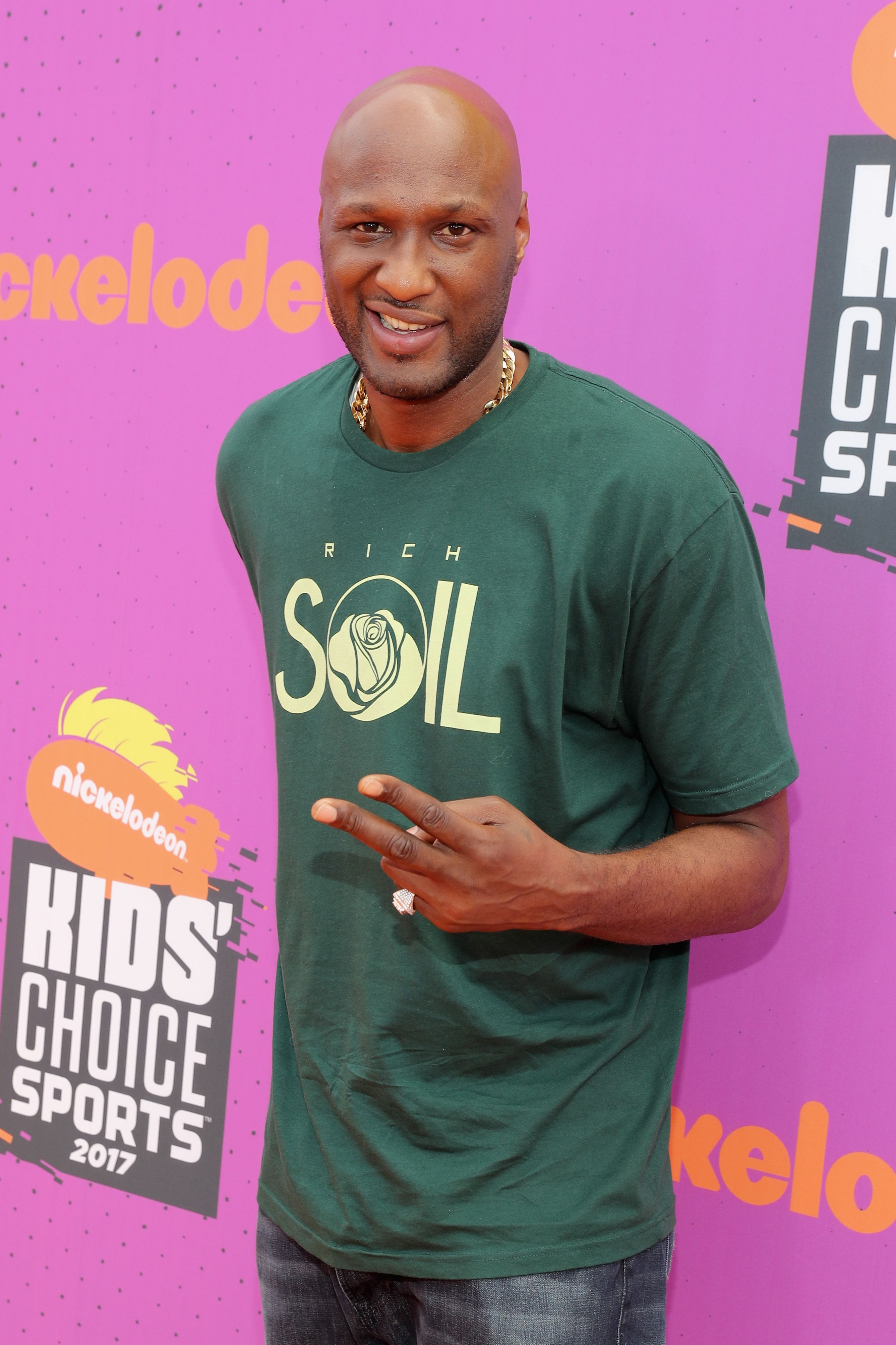 Lamar Odom during the Nickelodeon Kids' Choice Sports Awards 2017 at Pauley Pavilion on July 13, 2017 in Los Angeles, California. | Source: Getty Images