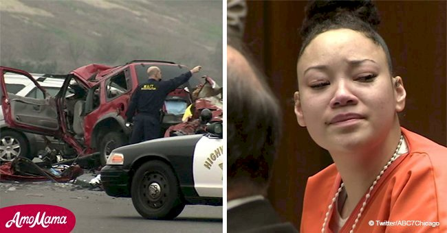 Drunk driver jailed for 30 years to life in wrong-way DUI crash that killed 6