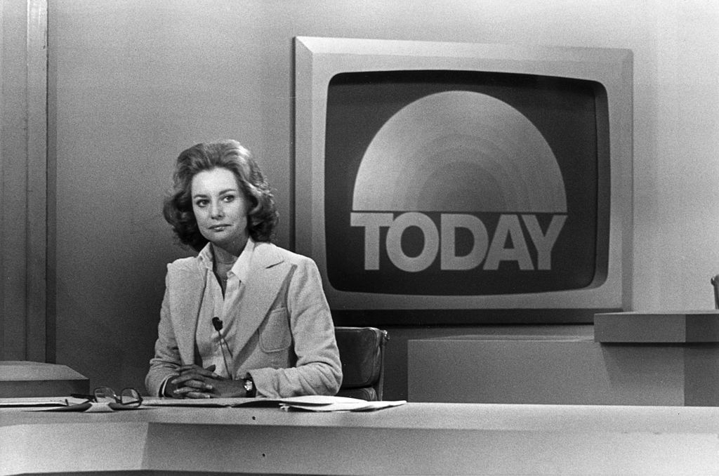 5th May 1976: Promotional portrait of television journalist Barbara Walters on the set of the Today Show, New York City.   Source: Getty Images