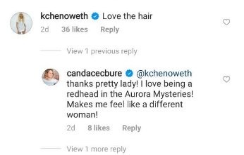 Candace Cameron Bure replied to Kristen Chenoweth comment on her Instagram post. | Photo: Instagram/candacecbure/