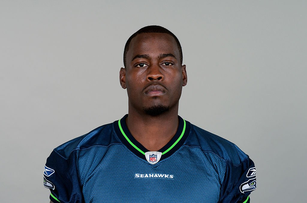 Tarvaris Jackson wore his jersey for the Seattle Seahawks as he posed for the NFL headshot, in2011 in Renton, Washington | Source: NFL via Getty Images