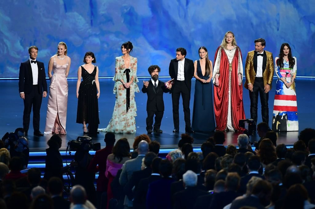 """The cast of """"Game of Thrones"""" onstage during the 71st Emmy Awards on September 22, 2019.    Photo: Getty Images"""