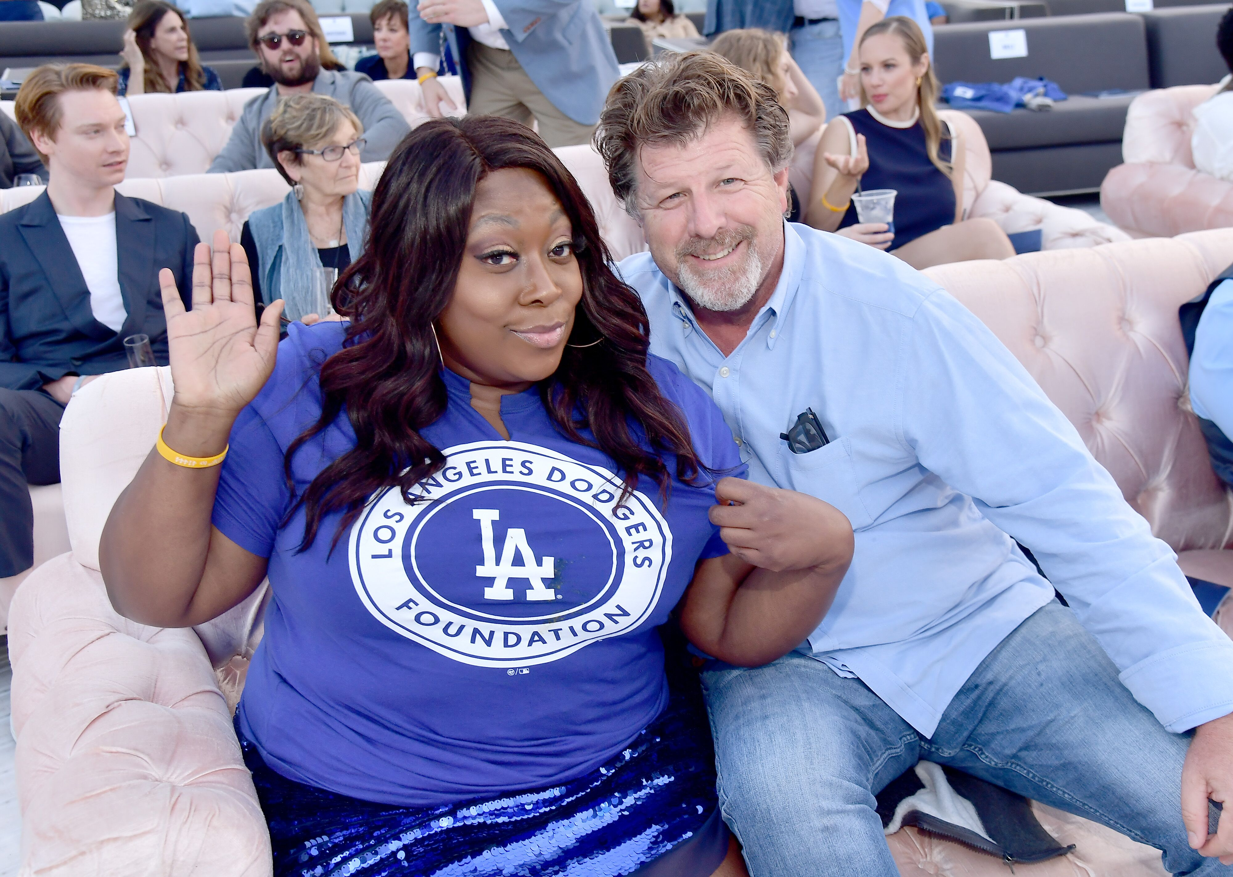 Loni Love and James Welsh attend the 5th Anniversary Los Angeles Dodgers Foundation Blue Diamond Gala. | Source: Getty Images