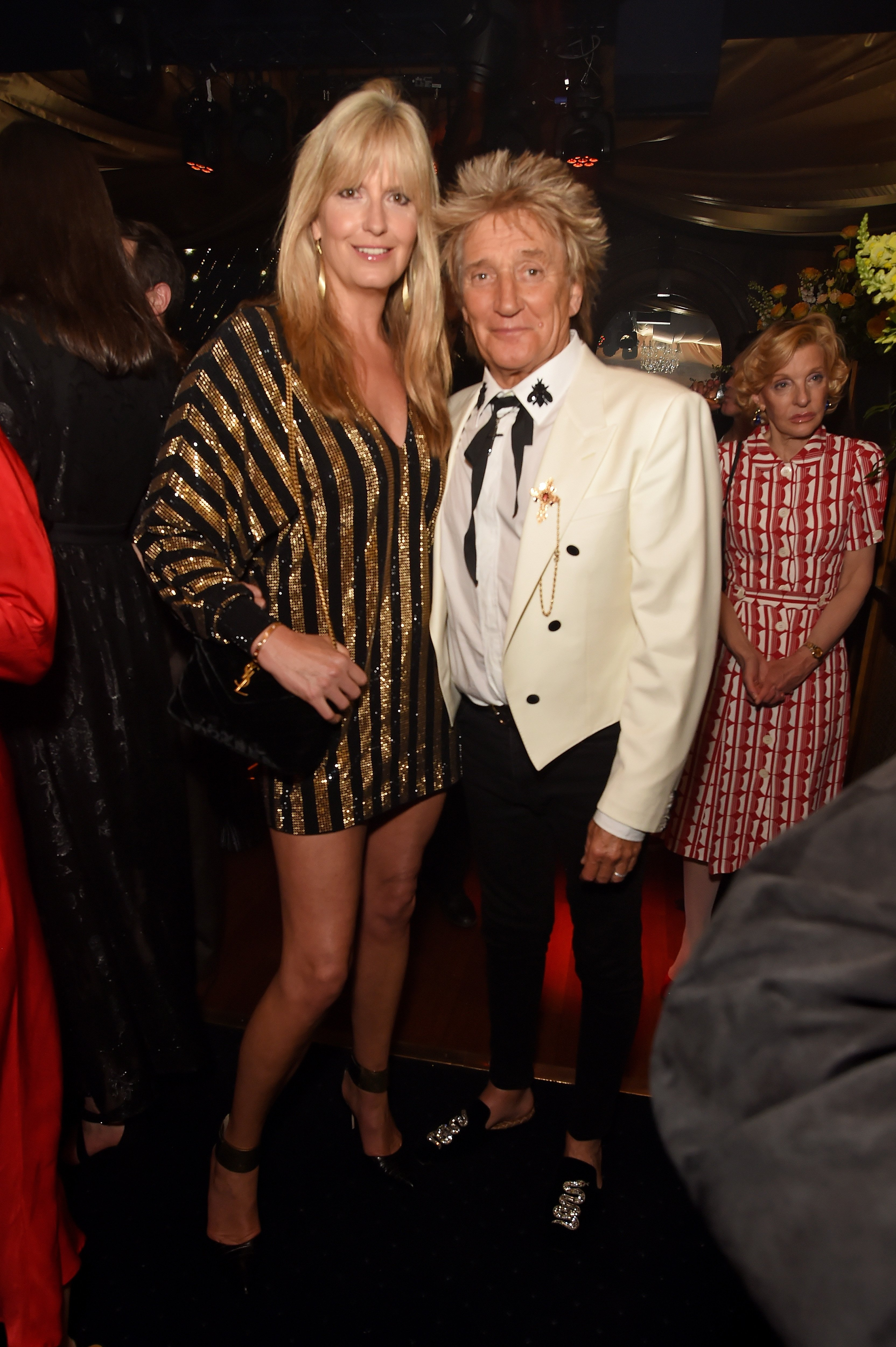 Penny Lancaster and Sir Rod Stewart at the 50th Anniversary of Tramp on May 23, 2019 in London, England | Photo: Getty Images