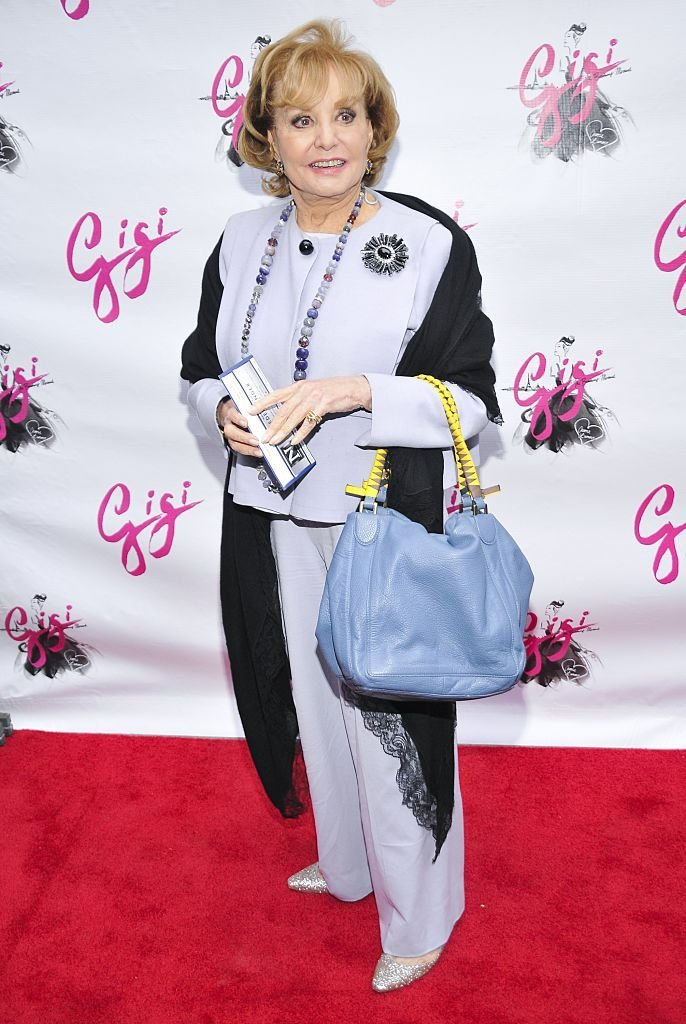 """Barbara Walters attends """"Gigi"""" Broadway opening night at Neil Simon Theatre 