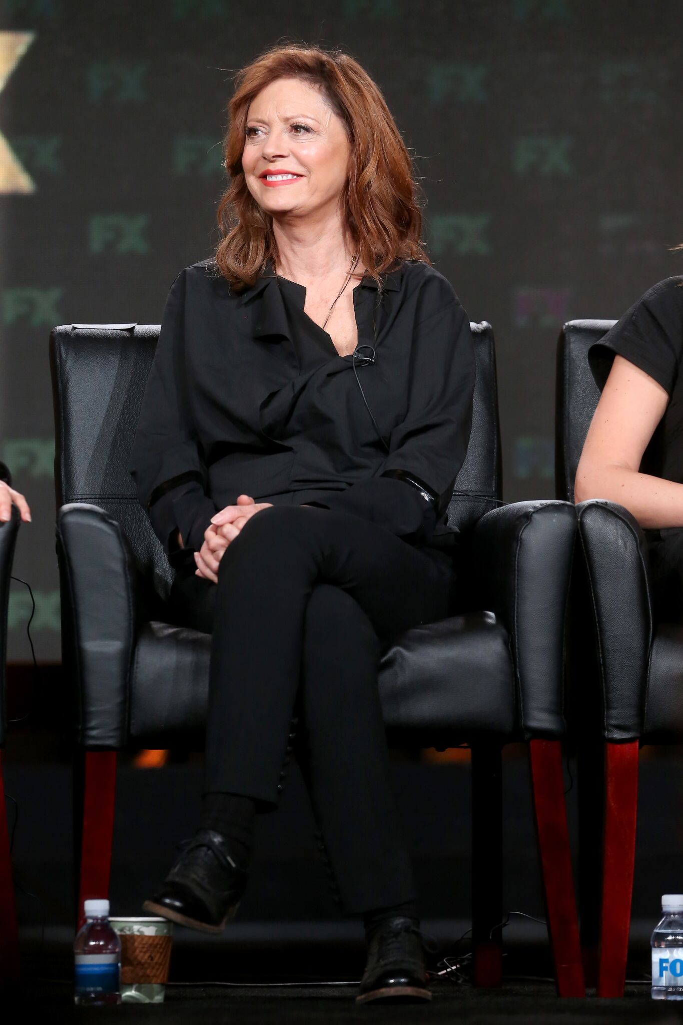 Susan Sarandon of the television show 'Feud' speaks onstage during the FX portion of the 2017 Winter Television Critics Association Press Tour | Getty Images