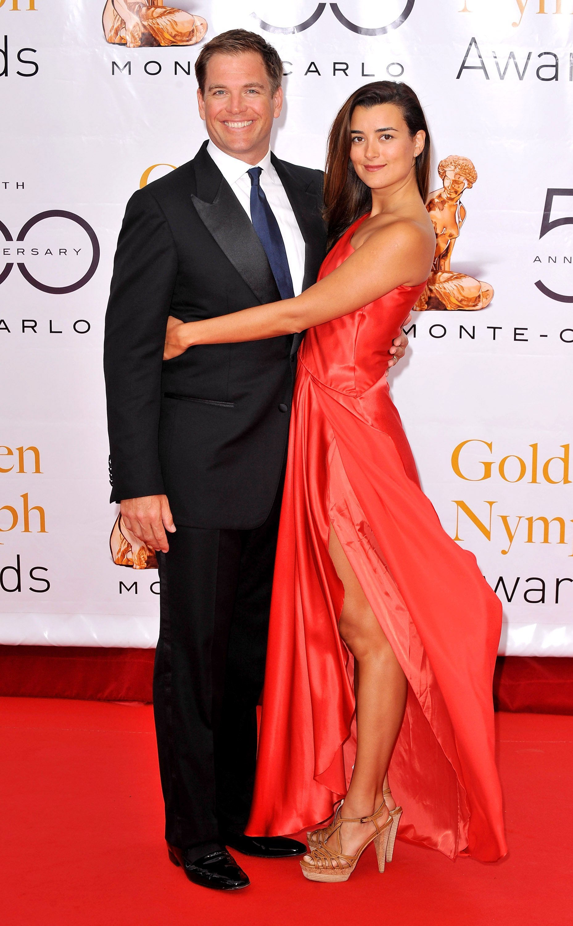 Michael Weatherly and Cote de Pablo at the 2010 Monte Carlo Television Festival | Photo: Getty Images