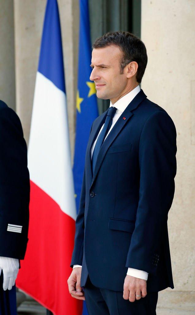 Emmanuel Macron reçoit Jacinda Ardern, Premier ministre néo-zélandaise, à l'Elysée, le 16 avril 2019. | Photo : Getty Images