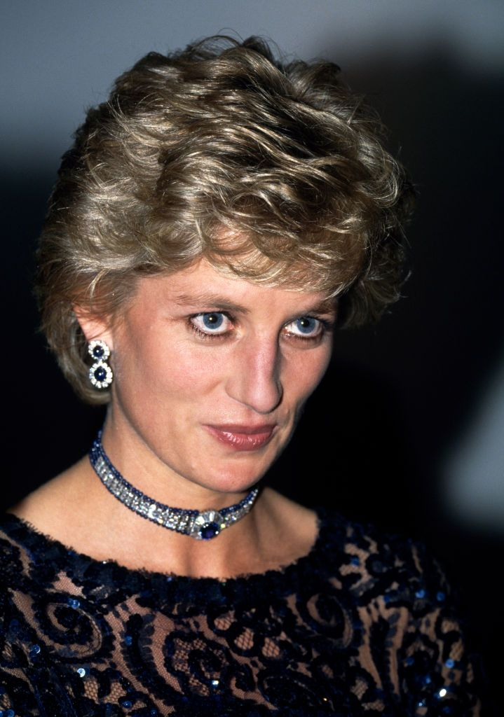 """Princess Diana attending """"A Concert of Hope"""" as Patron of Ty Hafan: The Children's Hospice in Wales at the Cardiff International Arena in Wales, on 3 June, 1995   Getty Images"""