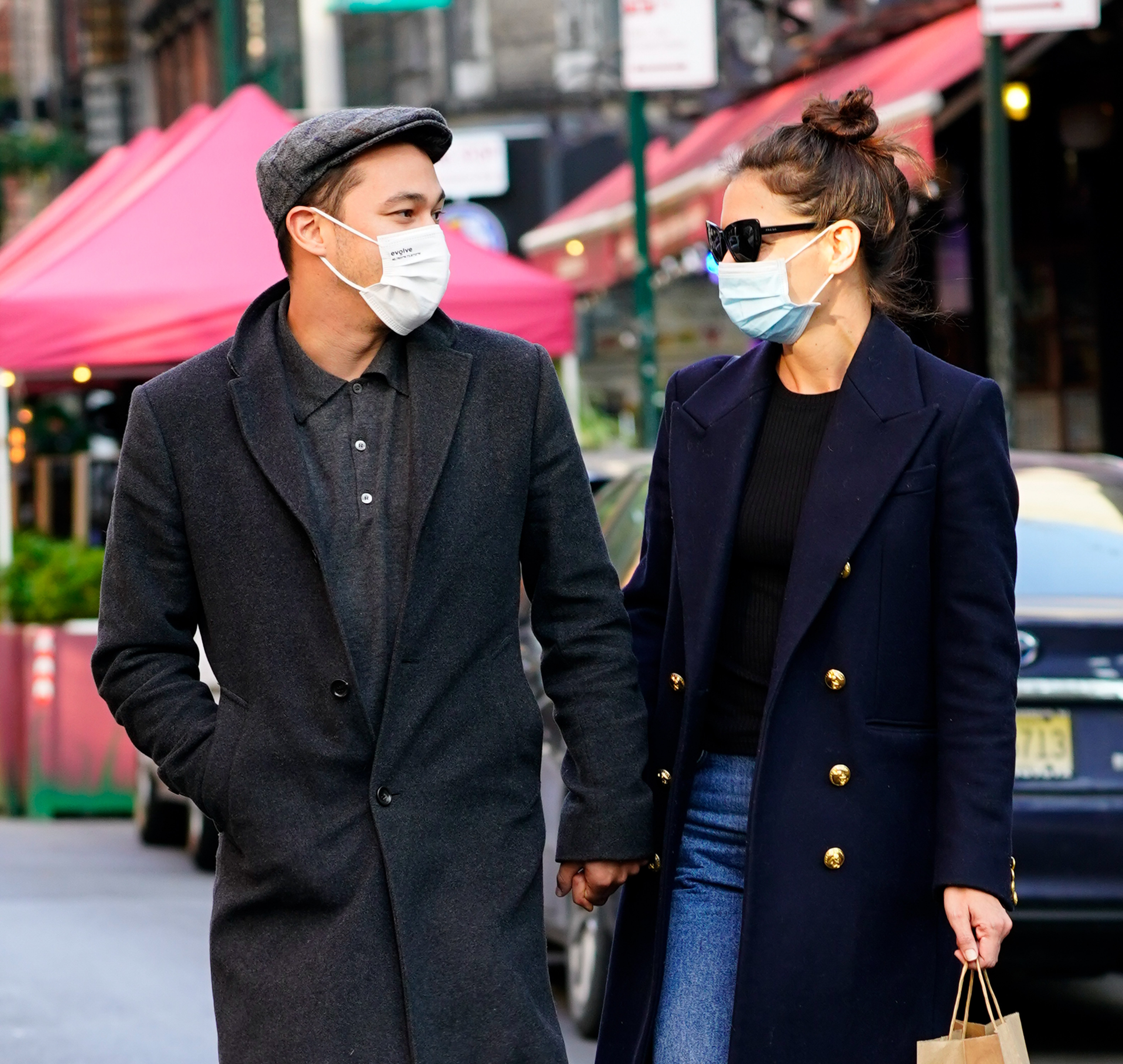 Katie Holmes and Emilio Vitolo Jr. seen on September 22, 2020 in New York City | Photo: Getty Images