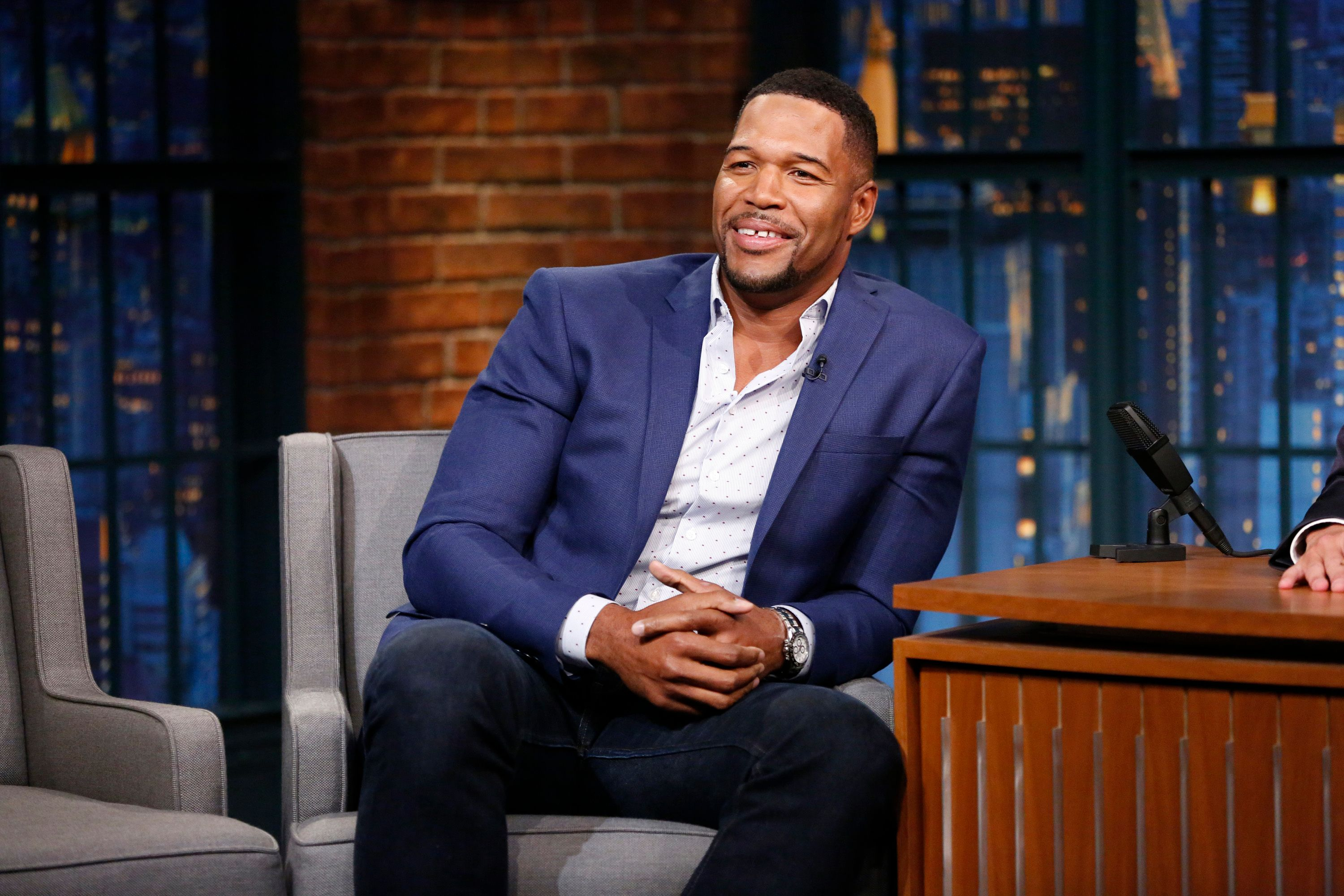 Michael Strahan during an interview on October 2, 2017 | Photo: Getty Images