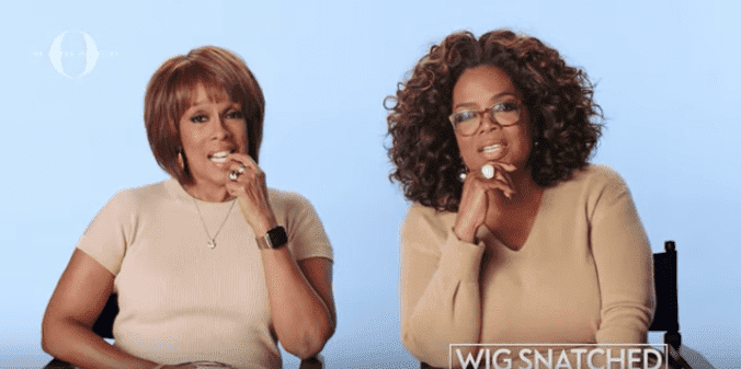 Oprah Winfrey and Gayle King answer interview questions. | Source: Youtube.com/O,TheOprahMagazine