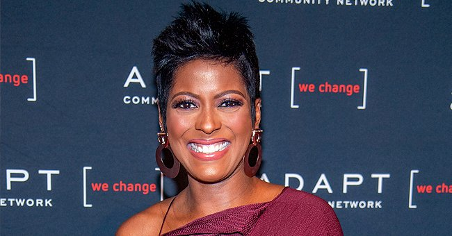 Tamron Hall Shows Curly-Haired Son Moses Wearing Blue Romper That Shows His Cute Tummy in Pic