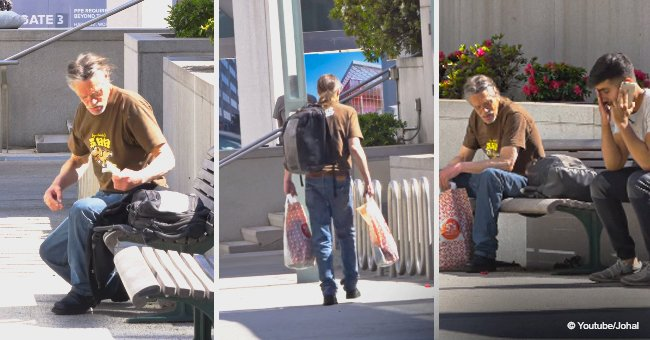Homeless man's breathtaking act of kindness during a social experiment still melts hearts
