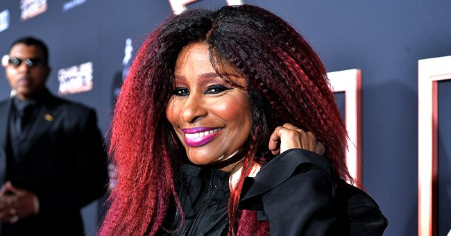 Singer Chaka Khan Looks Regal with Crown and Red Robe in a Video