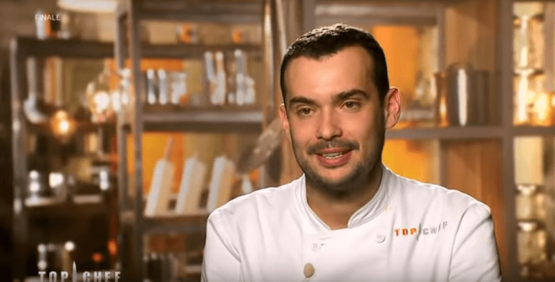 "Samuel Albert lors de la finale de ""Top Chef 2019"". 
