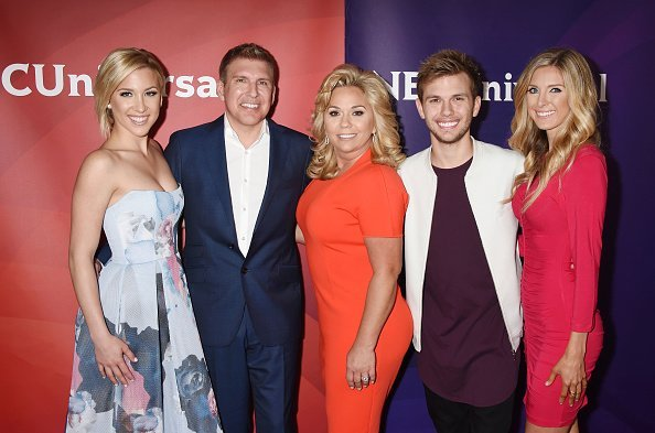 TV personalities Savannah Chrisley, Julie Chrisley, Chase Chrisley and Lindsie Chrisley arrive at the 2016 Summer TCA Tour | Photo: Getty Images