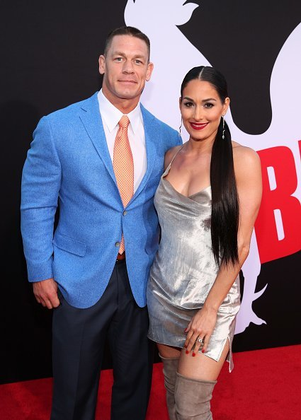 John Cena and Nikki Bella at Regency Village Theatre on April 3, 2018 in Westwood, California | Photo: Getty Images