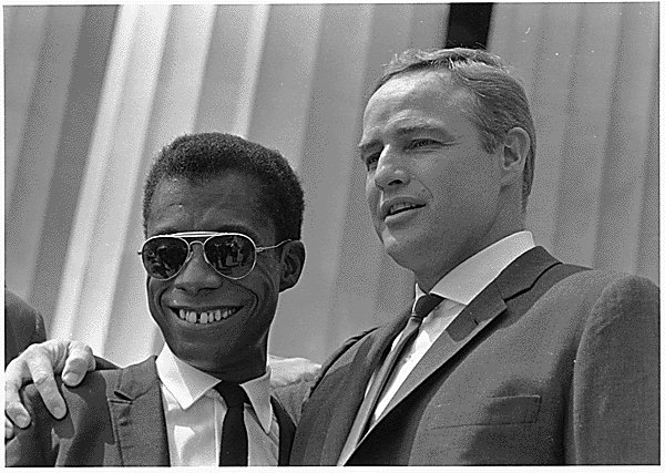 Marlon Brando with James Baldwin at the Civil Rights March on Washington, D.C. in 1963 | Source: Wikimedia