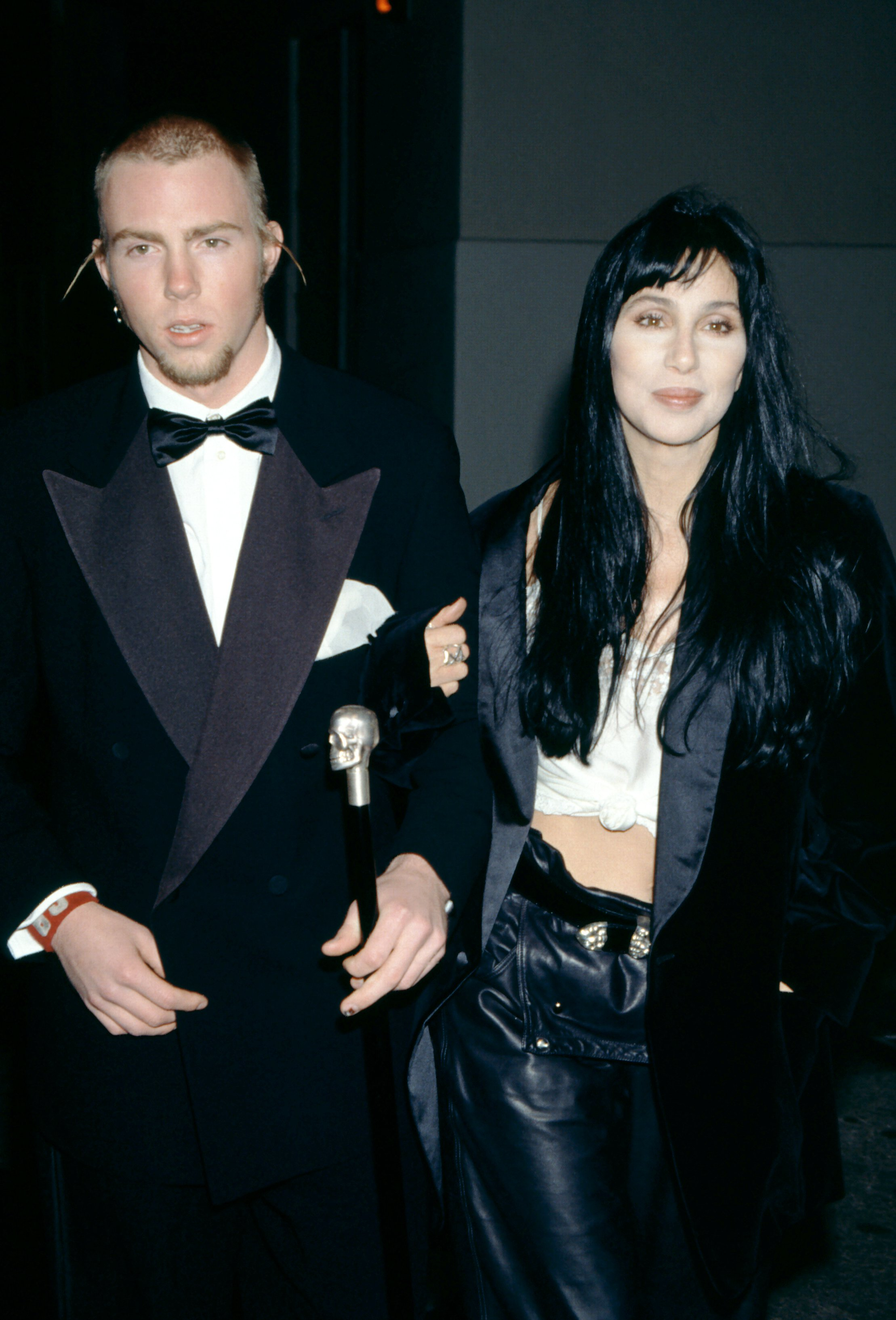 Elijah Blue Allman and his mother American singer Cher attend the 5th Annual Fire and Ice Ball to Benefit Revlon UCLA Women Cancer Center on December 7, 1994