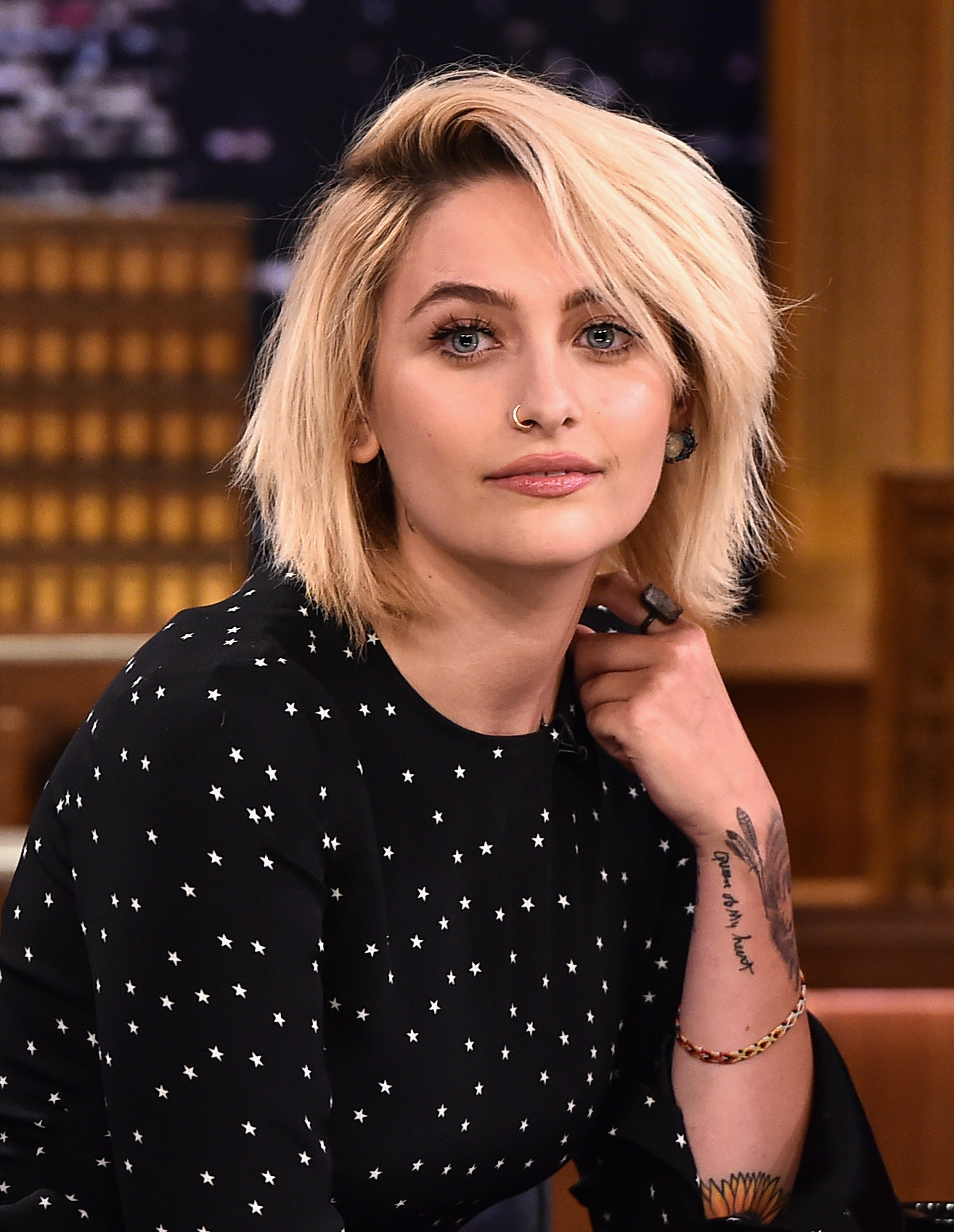 "Paris Jackson pictured on ""The Tonight Show Starring Jimmy Fallon."" 2017, New York City. 
