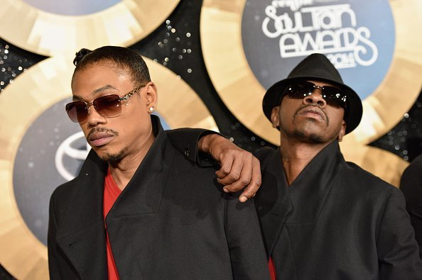 "DeVante Swing and Cedric ""K-Ci"" Jodeci at the 2014 Soul Train Music Awards at the Orleans Arena 