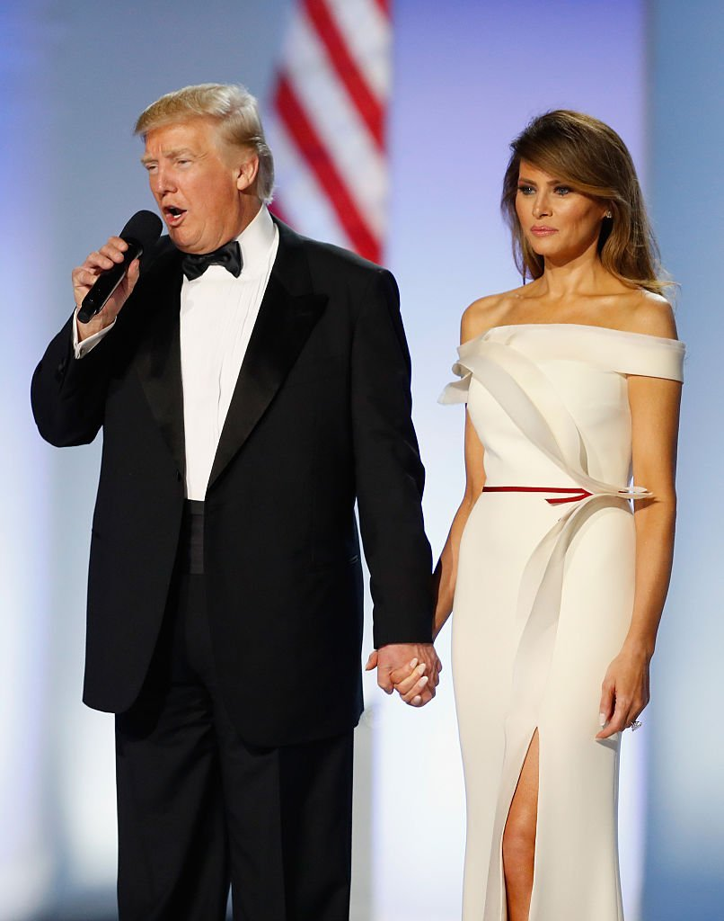 Donald and Melania Trump during the Freedom Inaugural Ball on January 20, 2017 in Washington, DC | Source: Getty Images