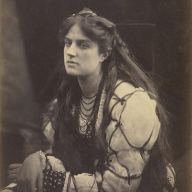 Hypatia; Julia Margaret Cameron (British, born India, 1815 - 1879); Freshwater, Isle of Wight, England; 1867; Albumen silver print. (Photo by: Sepia Times/Universal Images Group via Getty Images)