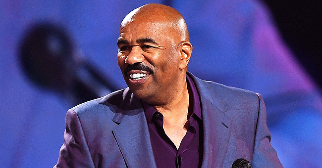 Steve Harvey's Wife Marjorie Posts Sweet Photo of Their Grandson Noah Sitting in Grandpa's Large Armchair