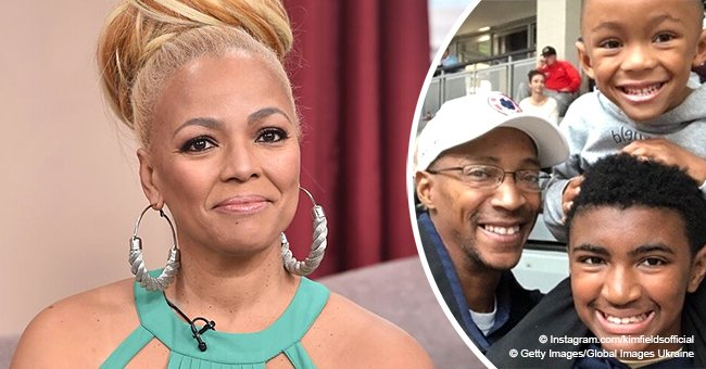 Kim Fields steals hearts with photo of her 2 sons & husband, showing their striking resemblance