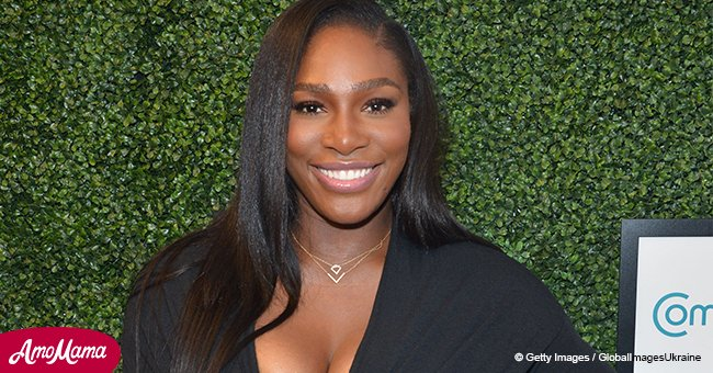Doting mom Serena Williams shares an adorable photo of 8-month-old daughter in a huge grey hat