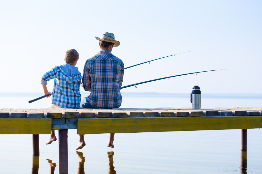 A man and his son go fishing together   Photo: Shutterstock