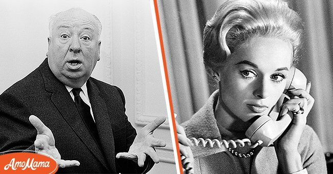Director Alfred Hitchcock and actress Tippi Hedren   Source: Getty Images
