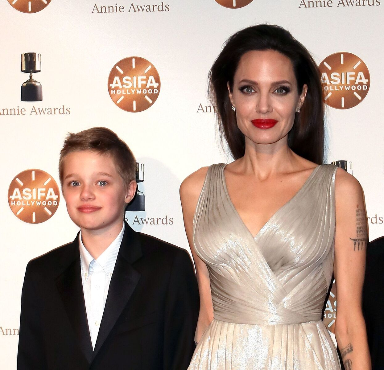 Shiloh Nouvel Jolie-Pitt and Angelina Jolie at the 45th Annual Annie Awards on February 3, 2018, in Los Angeles, California   Photo: David Livingston/Getty Images