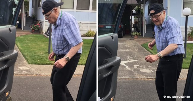 93-year-old grandfather doing the Kiki-challenge went viral in 2018