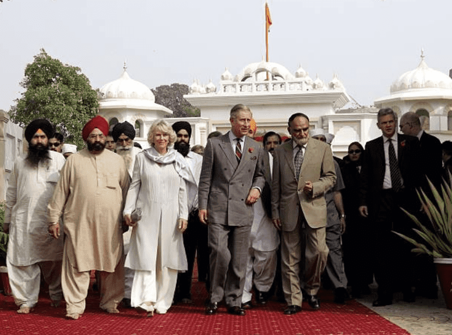 On the fifth day of the Royal Tour of Pakistan, Prince Charles and Camilla tour the  Sikh Gurdwara in Lahore, on November 02, 2006 in Lahore, Pakistan | Source: Chris Jackson/Getty Images