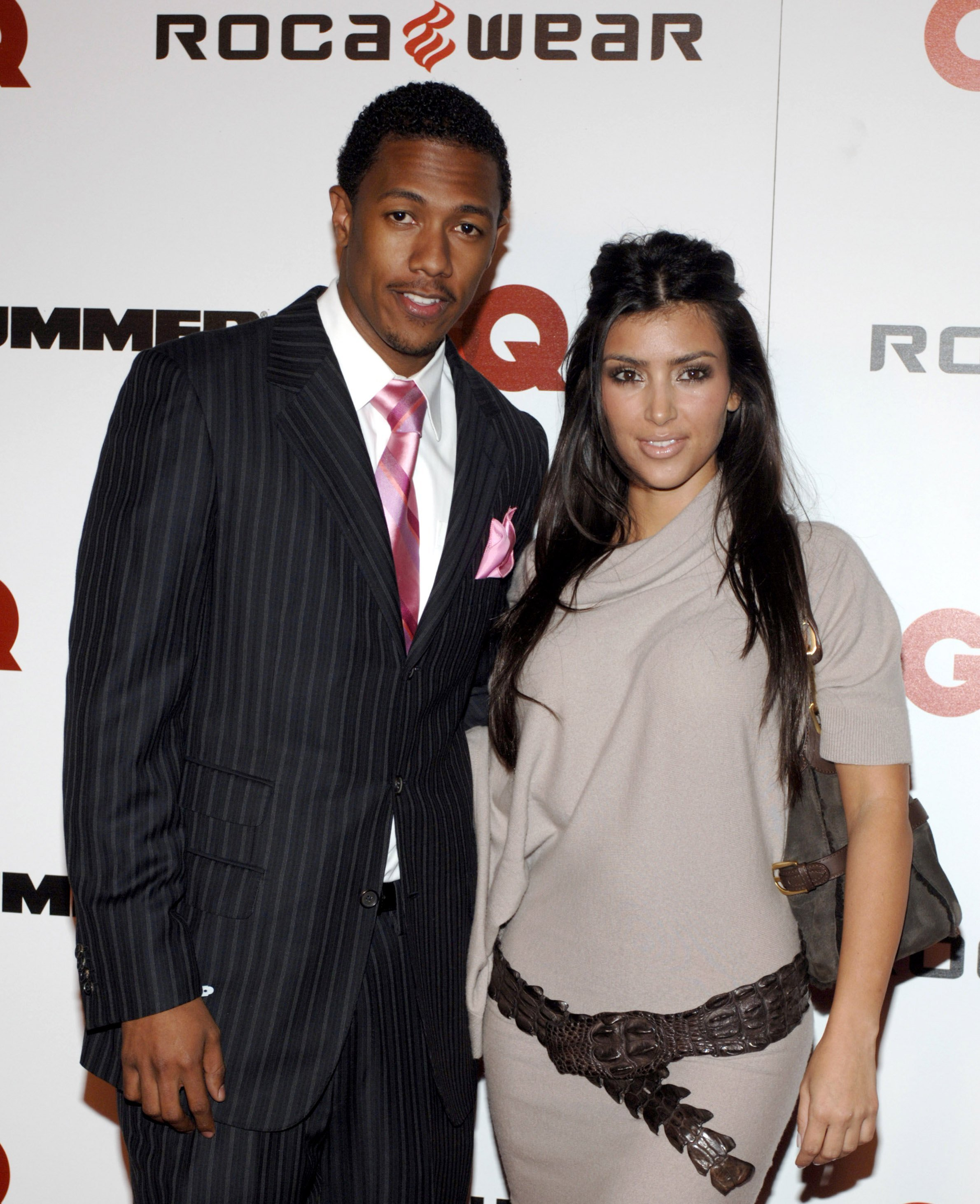 "Nick Cannon and Kim Kardashian attend a party for Shawn ""Jay-Z"" Carter's release of his newest album ""Kingdom Come"" on November 21, 2006 in Los Angeles, California 