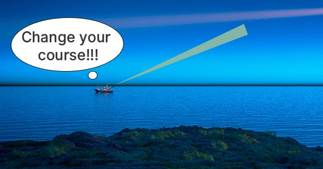 Daily Joke: Captain of a Ship Sees a Bright Light in the Darkness of the Ocean
