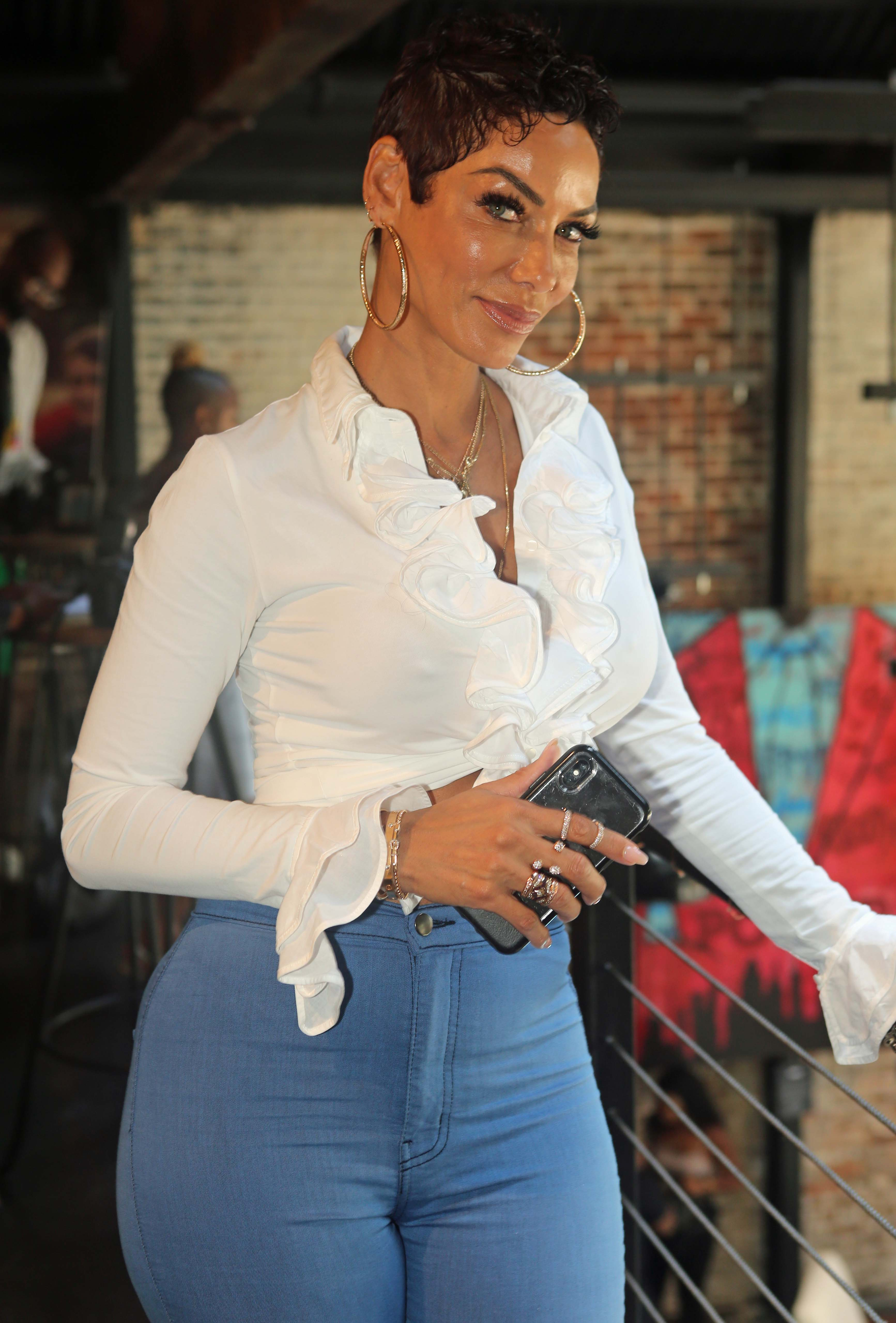 Nicole Murphy poses for a photo during the Starz Power Brunch on July 8, 2018 in Louisiana | Photo: Getty Images