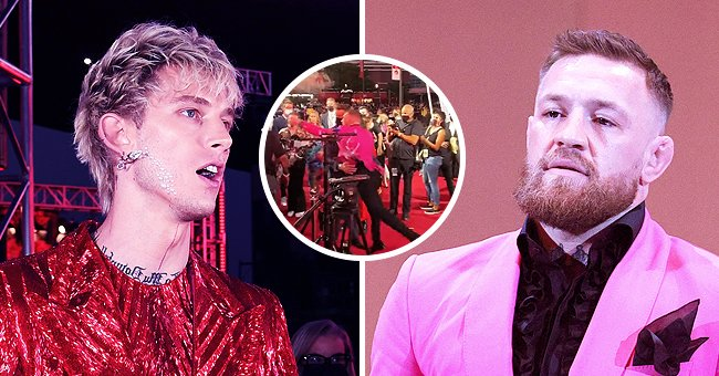 Machine Gun Kelly on the left and Conor McGregor on the right at the 2021 MTV VMAs at Barclays Center in Brooklyn, New York City | Photo: Getty Images | Twitter.com/BleacherReport