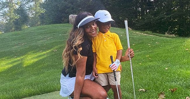 Angela Simmons Proudly Shares Pictures from Son Sutton's First Day of Golf Lessons