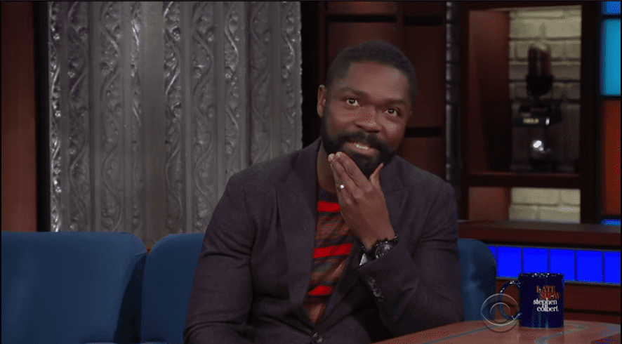 Actor David Oyelowo discussing his show in an interview with Stephen Colbert   Photo: Youtube/TheLateShowwithStephenColbert