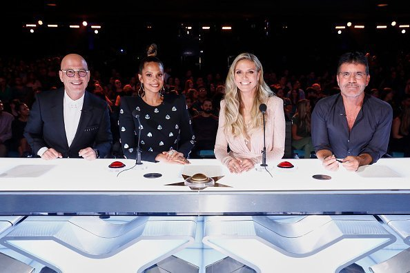 "Howie Mandel, Alesha Dixon, Heidi Klum, Simon Cowell on ""America's Got Talent"" 