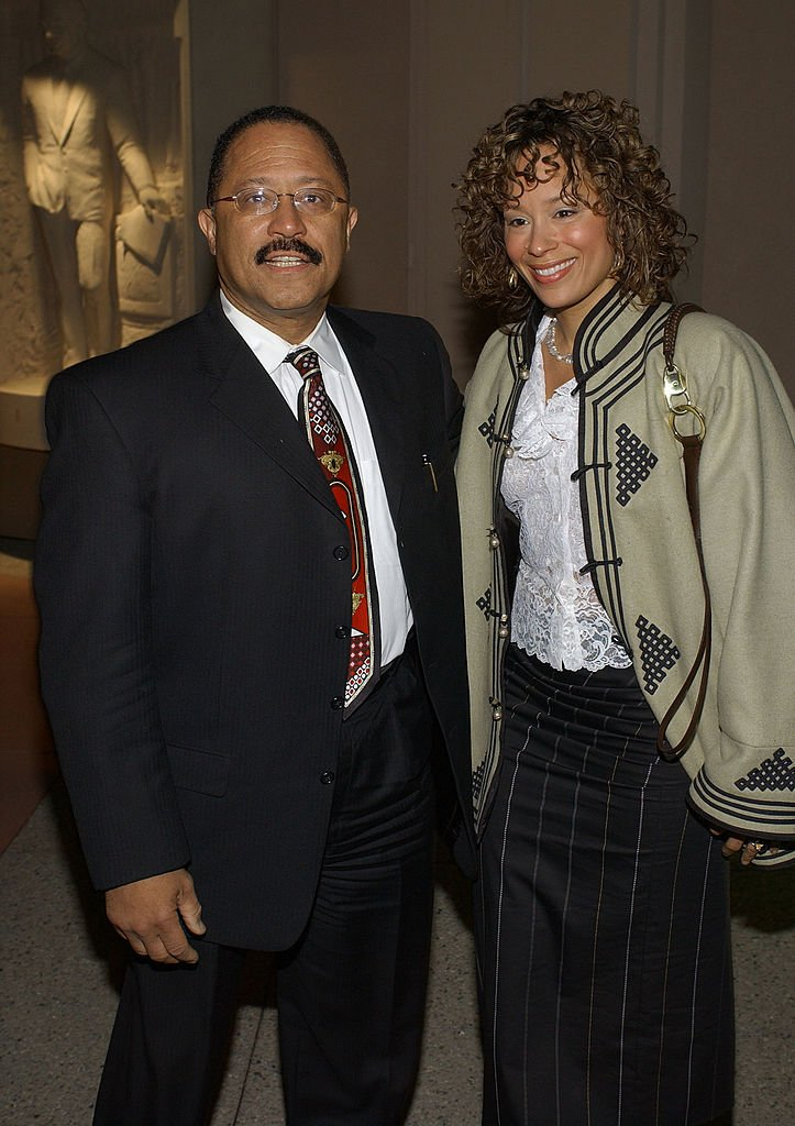 Judge Joe Brown and wife Deborah attend a reception for nominees of the 29th Annnual Daytime Emmy Awards May 7, 2002.   Photo: Getty Images