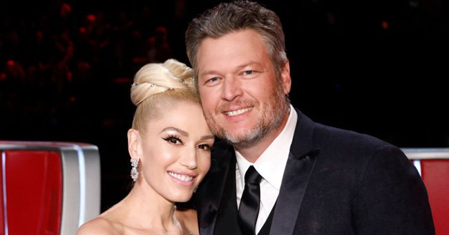 """Gwen Stefani and Blake Shelton pictured during the Live Finale Results of """"The Voice"""" season 17. 