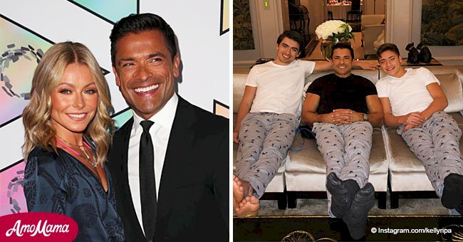 Kelly Ripa shares cute photo of husband with look-alike sons Michael and Joaquin