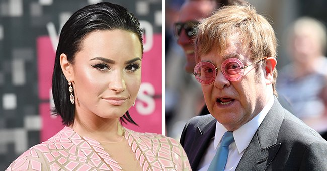 Elton John Sends Support Message to Demi Lovato after She Opened up about Her Health Challenges