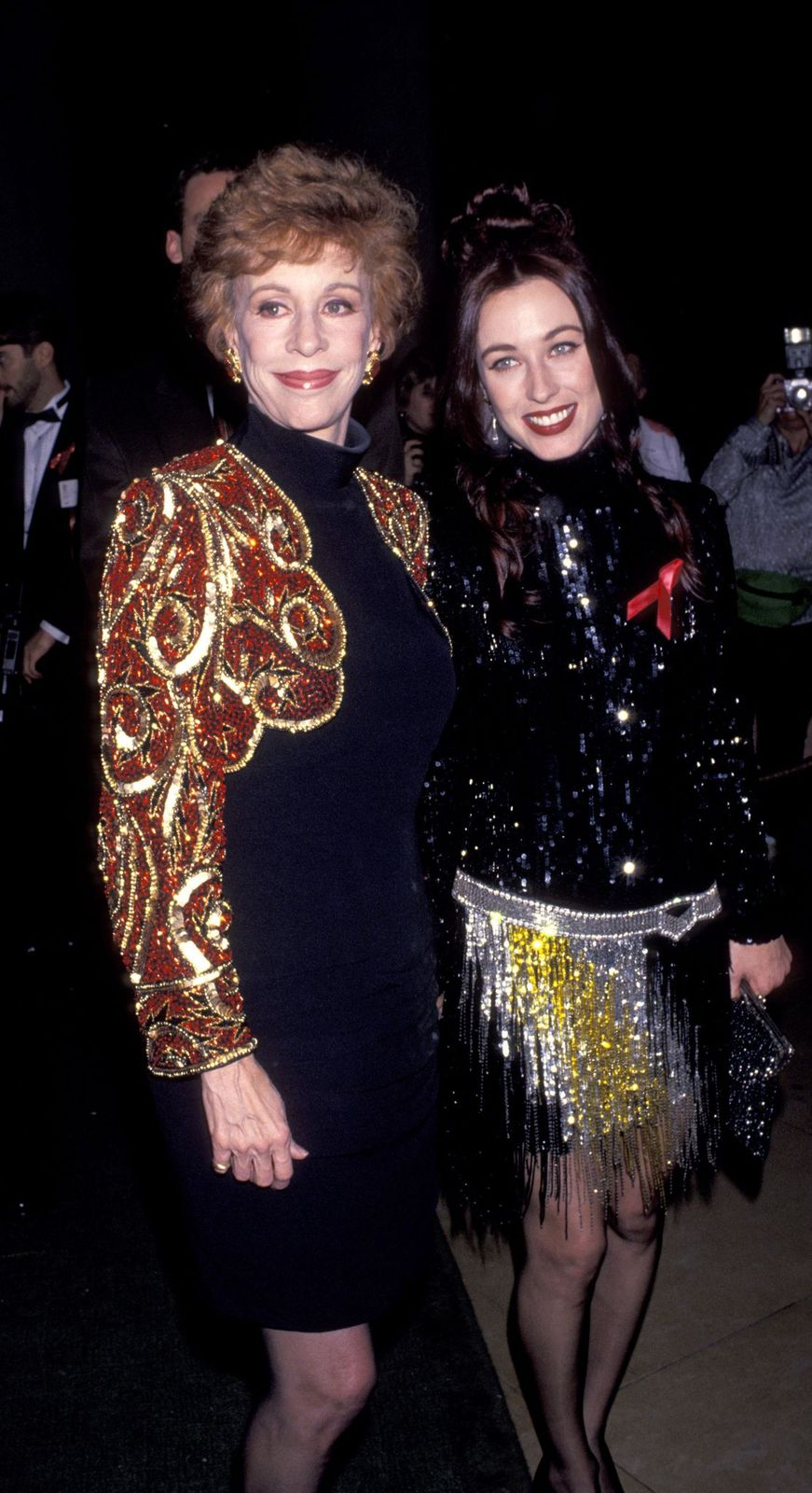 Carol Burnett and Erin Hamilton at The 50th Annual Golden Globe Awards onJanuary 23, 1993,in Beverly Hills, California   Photo: Getty Images