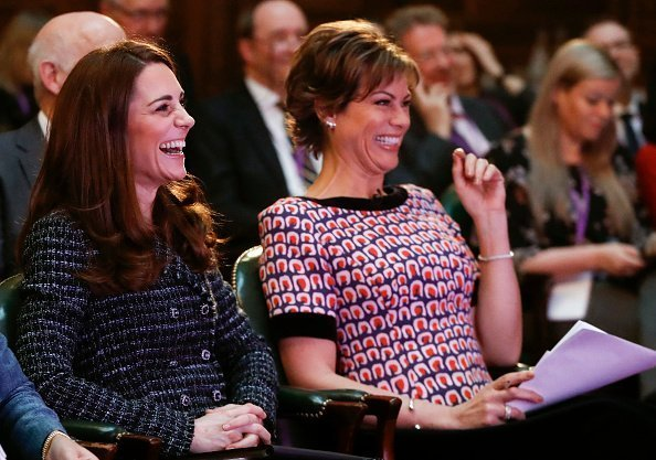 Kate Middleton, Duchess of Cambridge and Kate Silverton all smiles at a 'Mental Health In Education' conference on February 13, 2019 | Photo: Getty Images